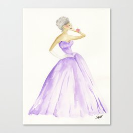 You Cannot Ignore the Color Purple Canvas Print