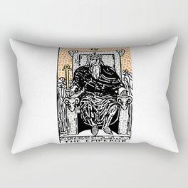 Modern Tarot Design - 4 The Emperor Rectangular Pillow