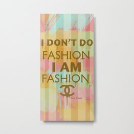 Fashion Typography Metal Print