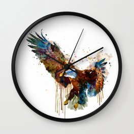 Free and Deadly Eagle Wall Clock