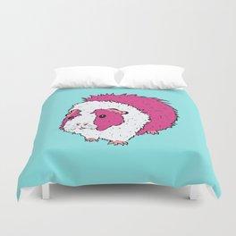 Retro Pop Art Guinea Pig Pink and Blue Duvet Cover