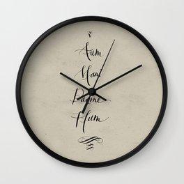 Aum Mani Padme Hum Wall Clock