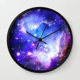 Galaxy Nebula Blue Wall Clock