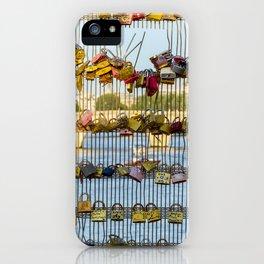 Love padlocks - Paris, France iPhone Case