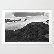 Glacial Icefield Art Print