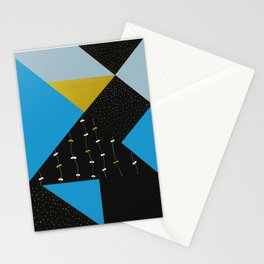 Garden In Tangrams Stationery Cards