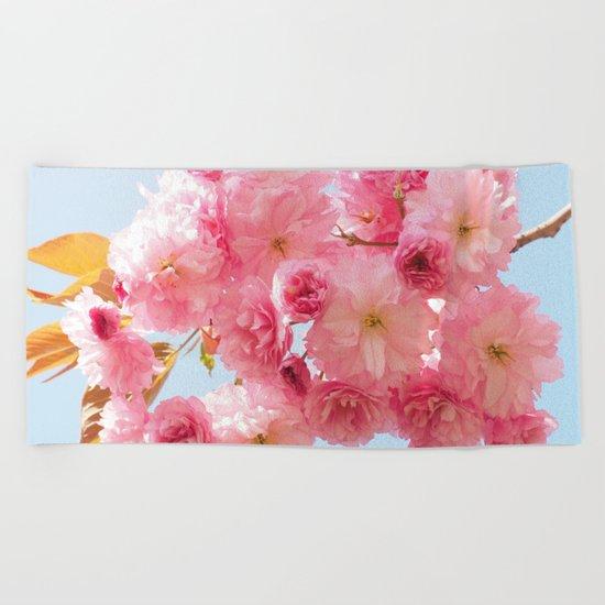 Cherry Blossom Beach Towel