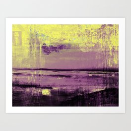 Yellow Color Patches Art Print
