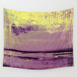 Yellow Color Patches Wall Tapestry