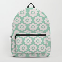 Duck Egg Blue Retro Floral Backpack
