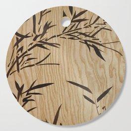 Japanese bamboo buddha wood art Cutting Board