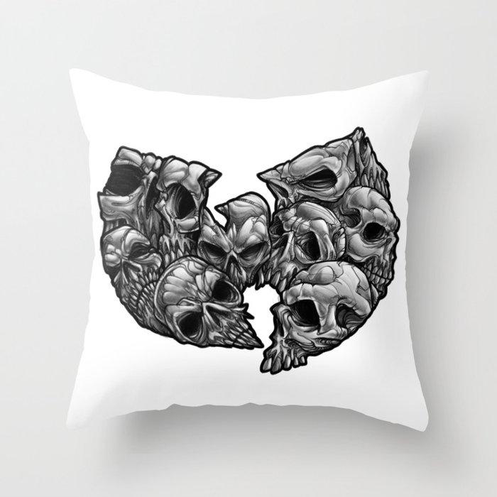 WuSkulls Throw Pillow