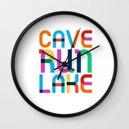 Cave Run Lake Color Pop Art Wall Clock