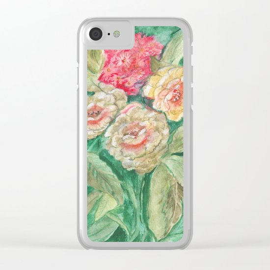 Floral Fusion Clear iPhone Case