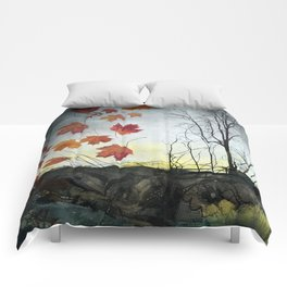 October (Falling) Comforters