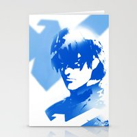 nightwing Stationery Cards featuring Nightwing Gradient #01 by markclarkii