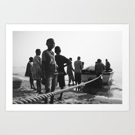Fisherman Return to Shore Art Print