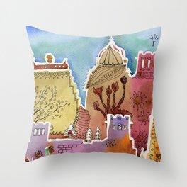 Oxford watercolor #1 Throw Pillow