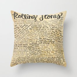 Rolling like a Stone Throw Pillow
