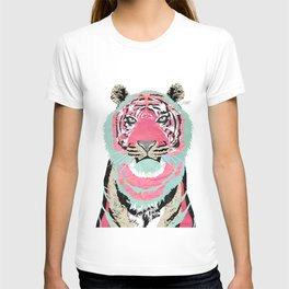 Pink Tiger Collage T-shirt