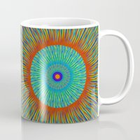kaleidoscope Mugs featuring Kaleidoscope  by BrucestanfieldartistPatterns