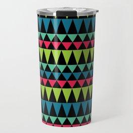 Neon Southwestern Pattern Travel Mug