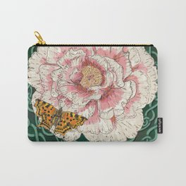 Celtic Peony and Comma Butterfly Carry-All Pouch