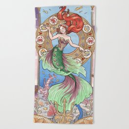 Every Girl Is A Princes 01: Andersen's The Little Mermaid Beach Towel