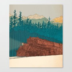 North-bound Train Canvas Print