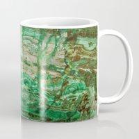 malachite Mugs featuring MINERAL BEAUTY - MALACHITE by Catspaws