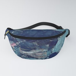 Blue marble texture Fanny Pack