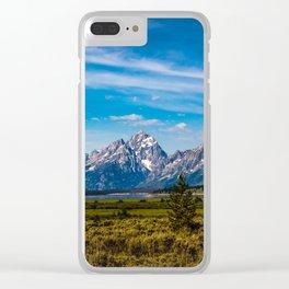 Teton Mountains Clear iPhone Case