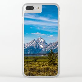 Teton Mountains Clear iPhone Case
