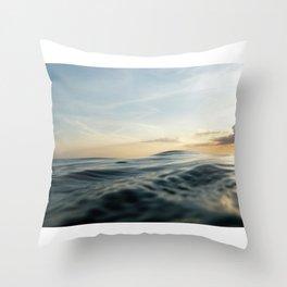 Velvet Sea Throw Pillow
