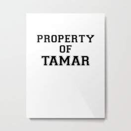 Property of TAMAR Metal Print