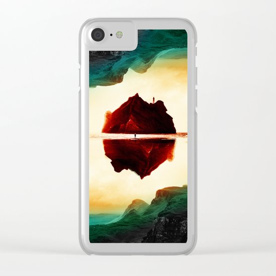 Isolation Island Clear iPhone Case