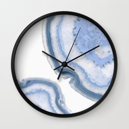 Airy Blue Agate Wall Clock