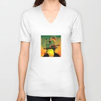dylan V-neck T-shirts featuring dylan by Mariana Beldi