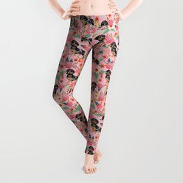 Dapple Dachshund doxie lover floral must have gifts dachsie flowers Leggings
