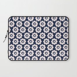 Navy Retro Floral Laptop Sleeve