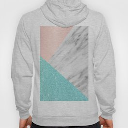 Real Italian Marble with Pink and Blue Hoody