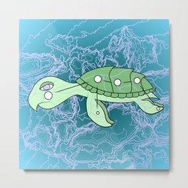 Celestial Turtle Metal Print