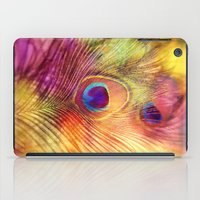 peacock feather iPad Cases featuring peacock feather by Sylvia Cook Photography