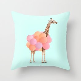 GIRAFFE PARTY Throw Pillow