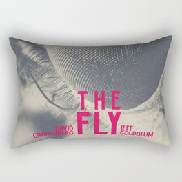 The Fly, horror movie poster, David Cronenberg, Jeff Goldblum, alternative playbill Rectangular Pillow
