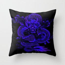 Epic Dragon Blue Throw Pillow