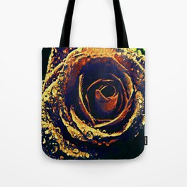 Rose with tears crossing Tote Bag