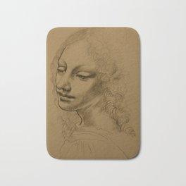 Da Vinci Inspired Drawing Bath Mat