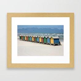 southafrica ... muizenberg beach huts II Framed Art Print