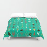 arrows Duvet Covers featuring Arrows by Claire Lordon